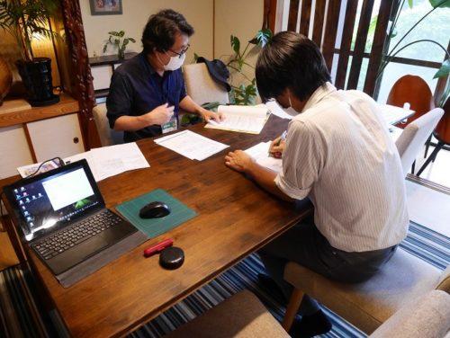 室内での記録関係書類の様子(画像)
