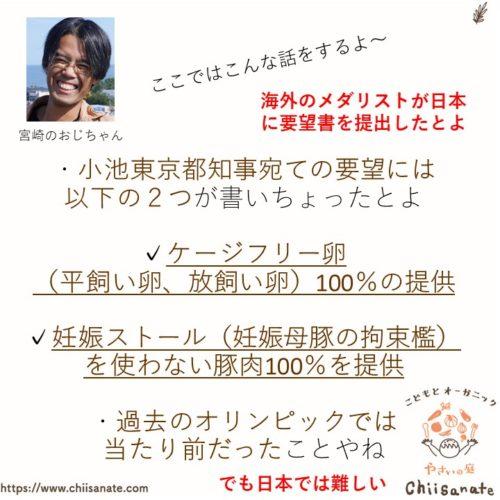 東京オリンピックのアニマルウェルフェア問題【日本の畜産物はNO】(説明画像)